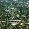 Rose Bowl, Arroyo Seco Bridge, Colorado Street Bridge and United States Court of Appeals for the Ninth Circuit - just below and to the right of the lower bridge, Colorado Street Bridge