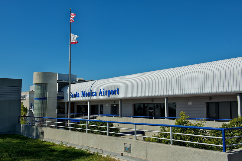 Santa Monica Airport on an absolutely beautiful day.