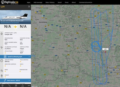 GFD Learjet flying as Kite 4 and supporting DASA01