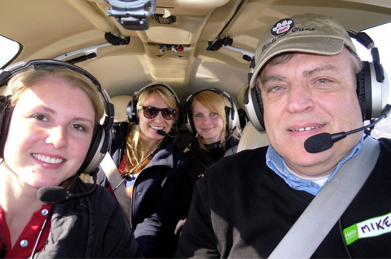 (L-R) Dana Chicklas, Christian Dulin, Brianna Creed and pilot and Event Coordinator, Mike Young