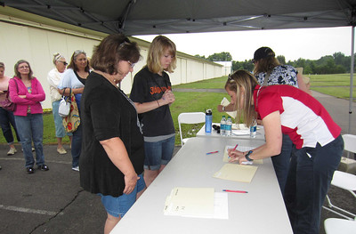 Signing in at the Flight Line