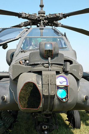 The Apache is equipped with a Target Acquisition Designation Sight (TADS), laser range finder/designator (LRF/D), and a Pilot Night Vision Sensor (PNVS), that allow the two-man crew to navigate and attack in darkness and in adverse weather conditions at extended standoff ranges.