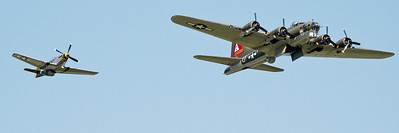 Thunderbird - B-17G Flying Fortress and Gunfighter - P-51D Mustang