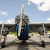 The Ford Tri-Motor prepares for flight on Thursday afternoon at the Fitchburg Municipal Airport. The plane, which had its first flight in 1929, is available for flights Friday through Monday from 9 AM to 5 PM. SENTINEL & ENTERPRISE / Ashley Green