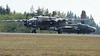 """North American B-25D Mitchell """"Grumpy"""" with FHC's B-25J """"Buster"""" in background."""