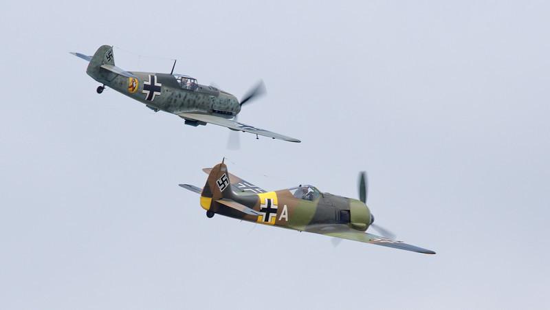 Messerschmitt Bf 109E-3 (top) and Focke-Wulf FW190A-5