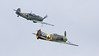 Messerschmitt Bf 109E-3 (top) and Focke-Wulf FW190A-5