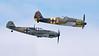 Messerschmitt Bf 109E-3 (bottom) and Focke-Wulf FW190A-5