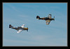 P51D Mustang with Hawker Hurricane Mk XIIA @ Flying Heritage Collection, Paine Field, Everett, WA USA.