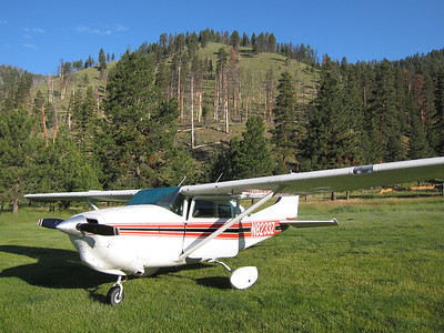 Flying N8233Z Napa to Pistol Creek, ID   July 2011