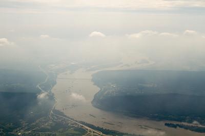 Looking south towards Harrisburg... lots of haze. - Copyright (c) 2012 Daniel Noe