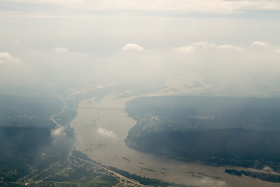 Looking south towards Harrisburg... lots of haze. - Copyright (c) 2012 Daniel Noe