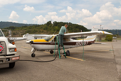 Topped off at Cumberland Regional airport by a friendly line guy. - Copyright (c) 2012 Daniel Noe
