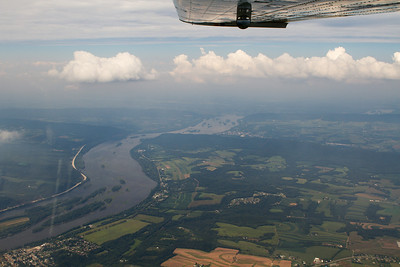 The Susquehanna river looking west from near Harrisburg, PA. - Copyright (c) 2012 Daniel Noe