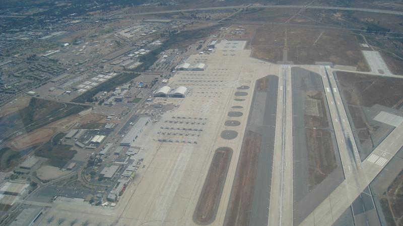 Midfield crossover at Miramar 2,500 feet.