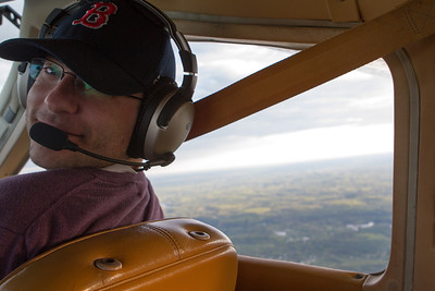 Jonathan in the right seat (he even wore his Red Sox hat). - Copyright (c) 2013 Daniel Noe