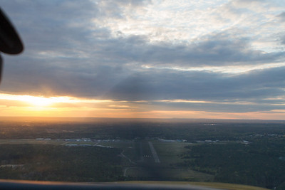 Turning final, runway 33. - Copyright (c) 2013 Daniel Noe