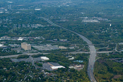 """The """"Wang Towers"""" in Chelmsford, Route 3 and 495 interchange. - Copyright (c) 2013 Daniel Noe"""