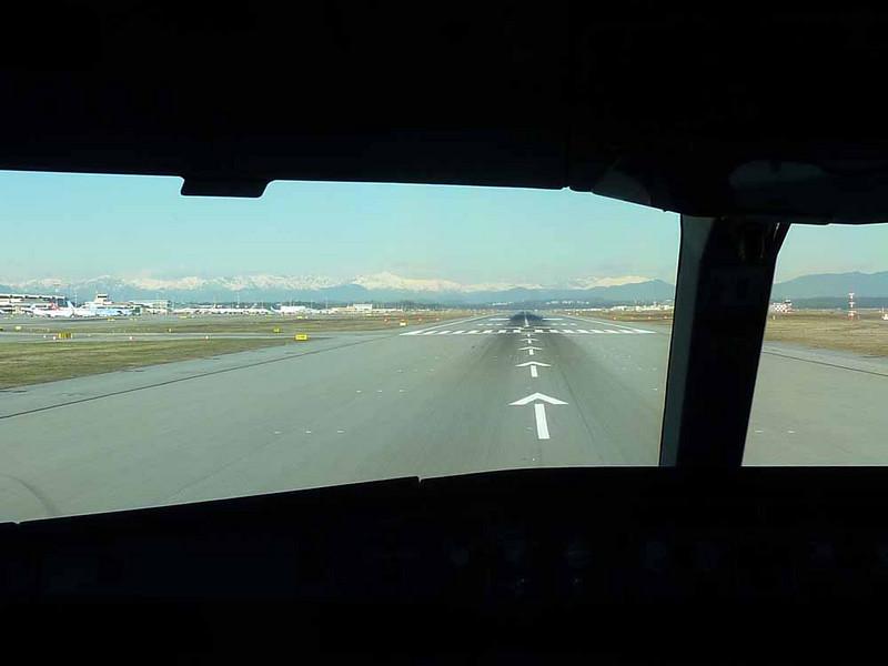 Taking off from Milan
