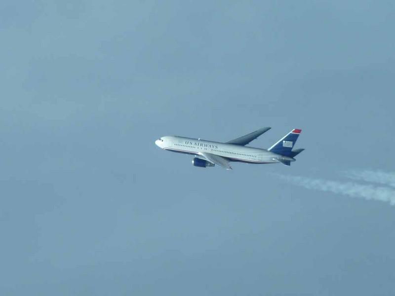 US Airways over Nova Scotia