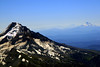 Mt Hood 11,235,  Mt Jefferson 10,497 and the three sisters in distance,Mt. Hood,Mountain Glacier,