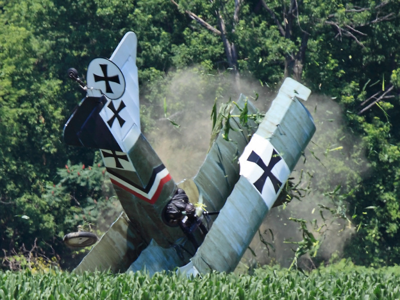 Radial engine failure and accident
