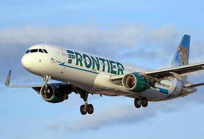 Airbus A321-211 Frontier Airlines   N706FR  Las Vegas - McCarran Intl. (LAS / KLAS) Nevada, USA October 29, 2016