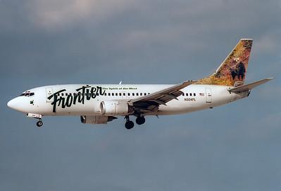 Frontier Airlines Boeing 737-3Q8  Las Vegas - McCarran Intl. (LAS / KLAS) USA - Nevada, November 2004 Reg: N304FL  Cn: 27633/2878