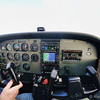 Cessna 172 over Pompano Beach, FL<br /> Fisheye shot
