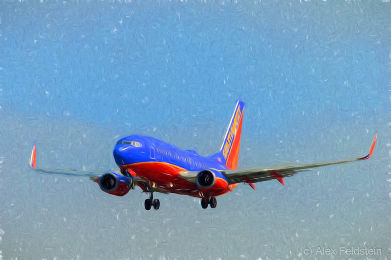 Southwest B737 landing at Ft. Lauderdale<br /> Processed with LR + Topaz Impressions