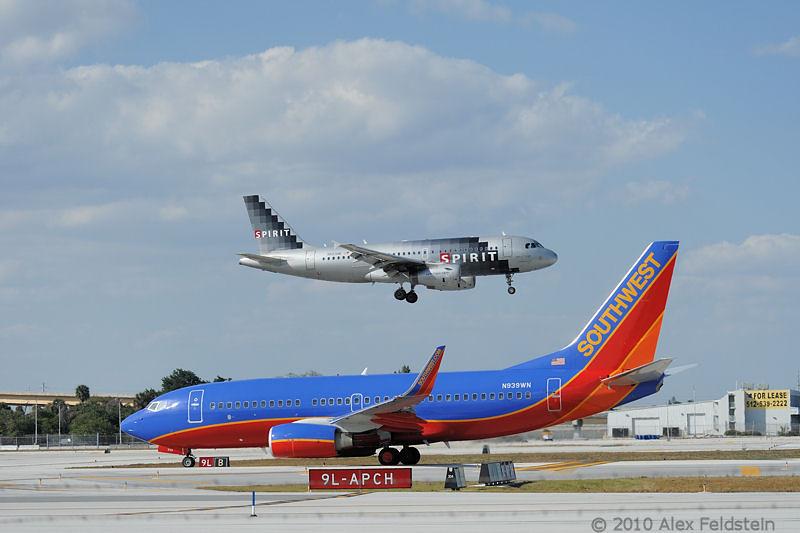 Spirit landing, Southwest ready for takeoff