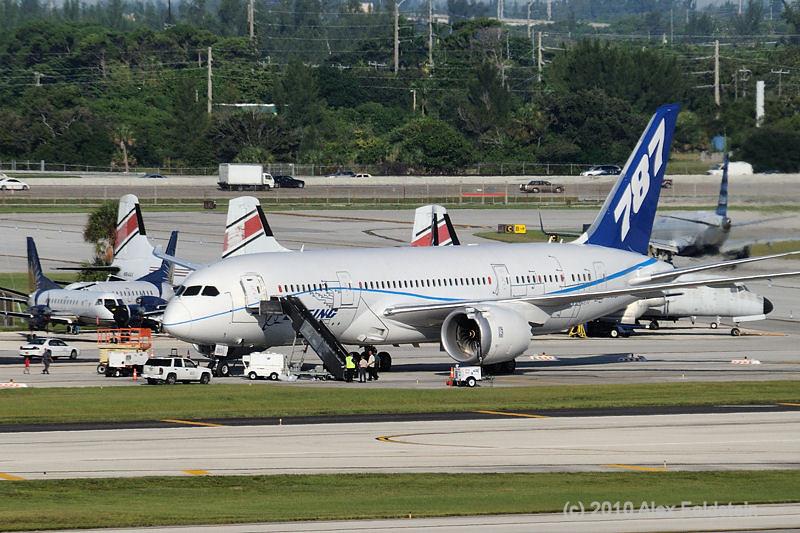 787 test model in Ft. Lauderdale