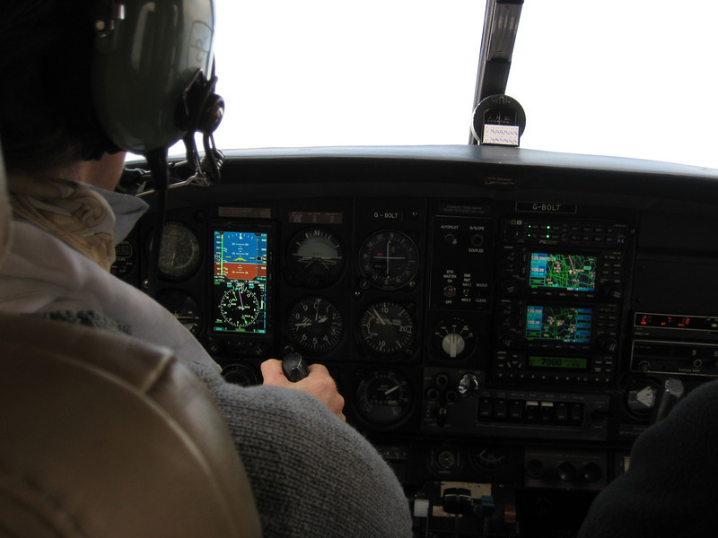 Acceptance flight for the Aspen and avionics