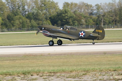 P-40E Owned/flown by Bob Baranaskas. Gathering of Mustangs and Legends