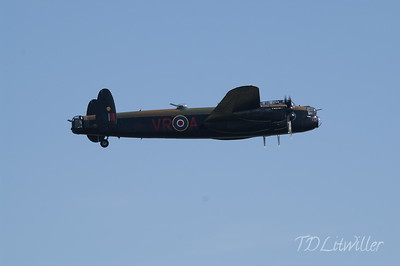 Gathering of Mustangs and Legends Avro Lancaster from Canadian Warplane Heritage