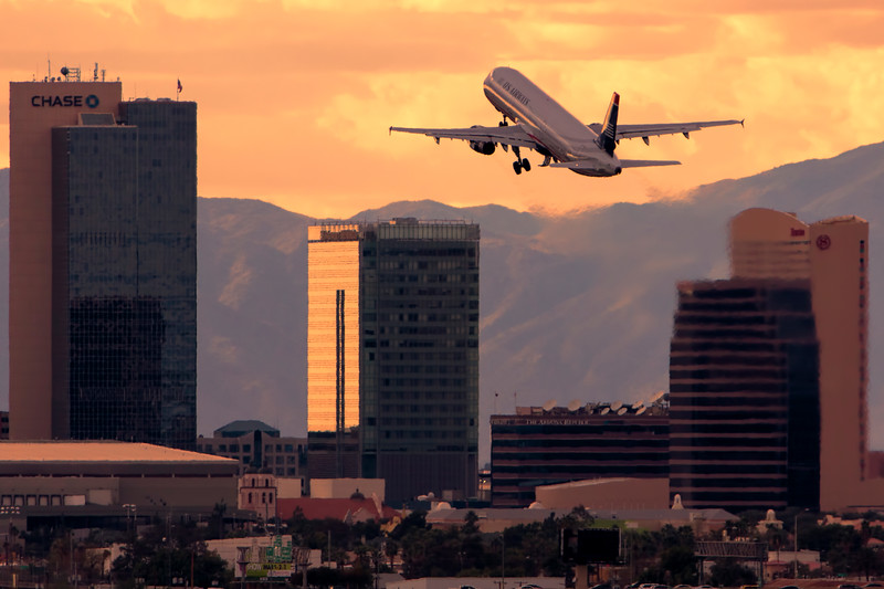 Departure Over Downtown Phoenix