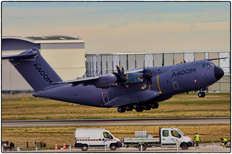 Airbus A400M Test Flight Out of Toulouse