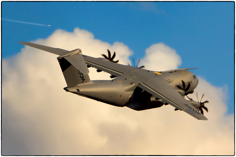 Airbus A400M Departs Toulouse