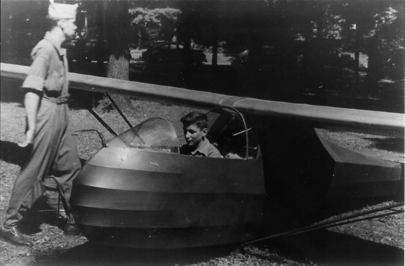 Circa 1930s - Detroit Glider Club ABC Sailplane at Frankfort, MI