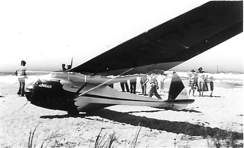 1935 - Stan Corcoran's Cinema I on the beach at Sleeping Bear Sand Dunes - Michigan