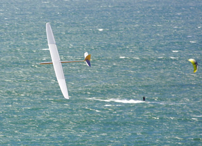 Davenport has other wind sports besides glider flying!