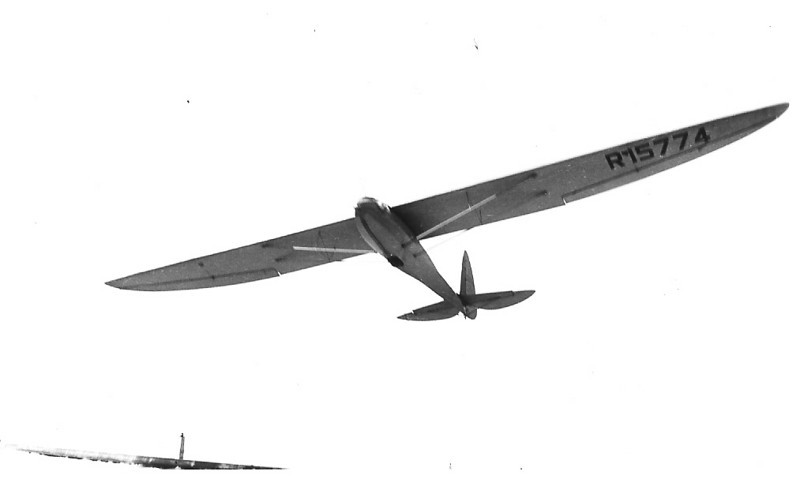 ABC sailplane on the winch.