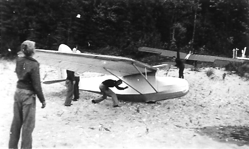 "1940 - Franklin Secondary sailplane with ""Stevens"" wings."