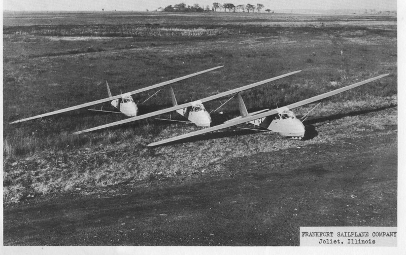 Stan Corcoran's Franklin Sailplane Company TG-1A Gliders.  Based on the Cinema II two place glider, the TG-1As were used to train U.S. Army Glider Pilots during WWI to fly the Waco CG-4A combat assult gliders flown in the Normandy Invasion.