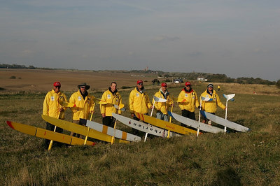 Team USA 2004 Viking Race, Rugen Germany. from left(plane)  Dan Field (Acacia2), Tom Copp(Aris), Doug Reel (Extreme), Bob Bingham (RaceM), Bart Vaio (Stratos), Gary Legerton (Trinity), Tim Cone(NYX)