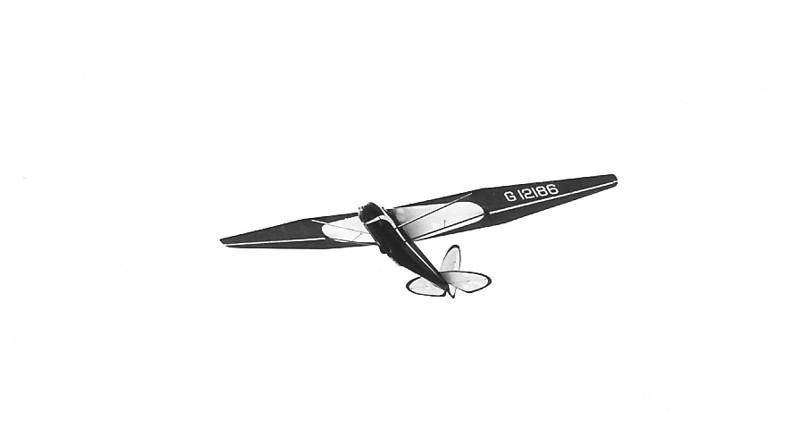 1940 - Franklin-Stevens sailplane on winch launch.