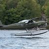 Helio Courier landing on Mooshead Lake.