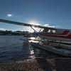 Seaplanes tied down at Folsom's Air Service on Moosehead Lake.
