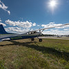 Cessna 185 basking in the sun at Greenville Airport.