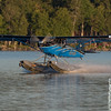 PK Floats Aviat Husky step taxiing on Moosehead lake in the early morning light.